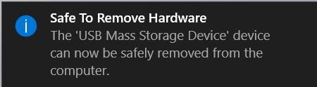 Safe to remove
