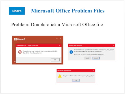 MS Office Problem Files