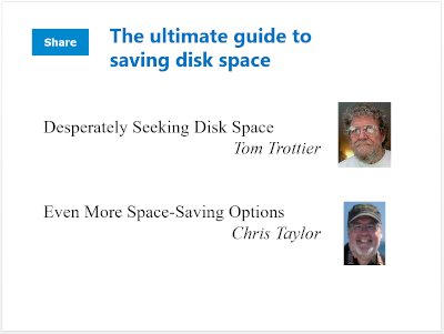 Disk space guide