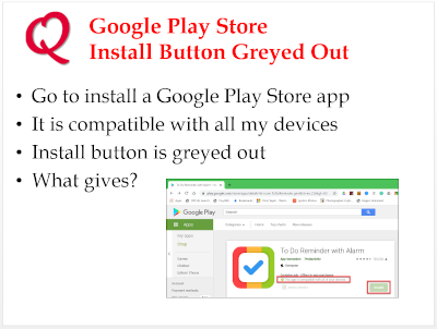 Play Store Install Button