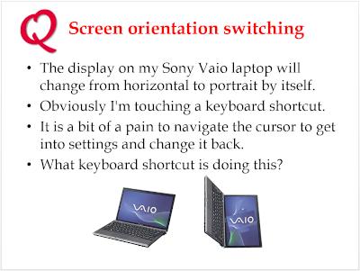 Screen orientation