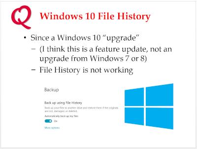 File History Broken