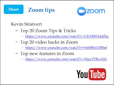 Zoom tips