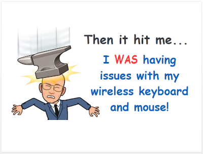 Wireless keyboards and mice