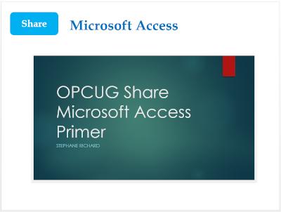 Microsoft Access Primer