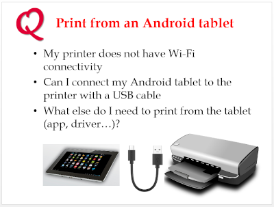 Print from Android tablet